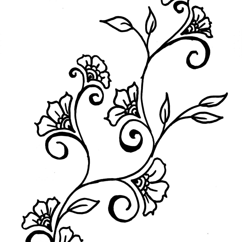 1500x1500 Flower Drawings