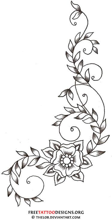 374x740 Flower Tattoo Gallery 70 Flower Designs