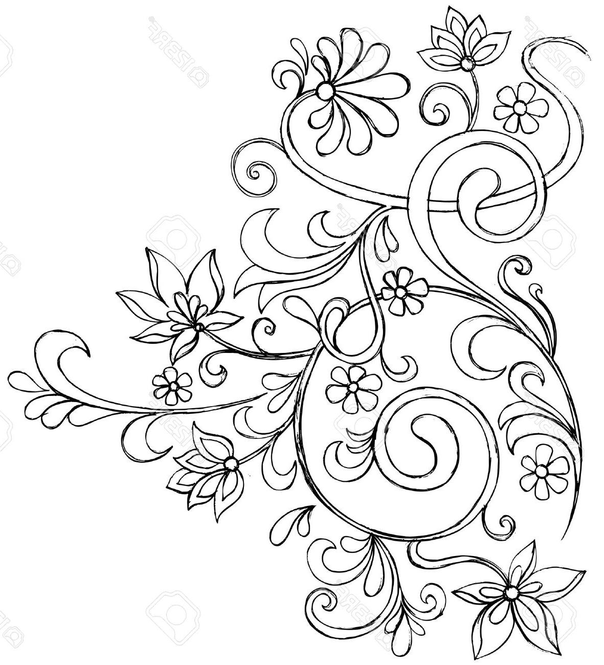 1181x1300 Easy Drawings Of Flowers And Vines Best Vine Drawing Ideas