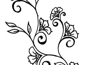 300x210 Flower Vine Drawings