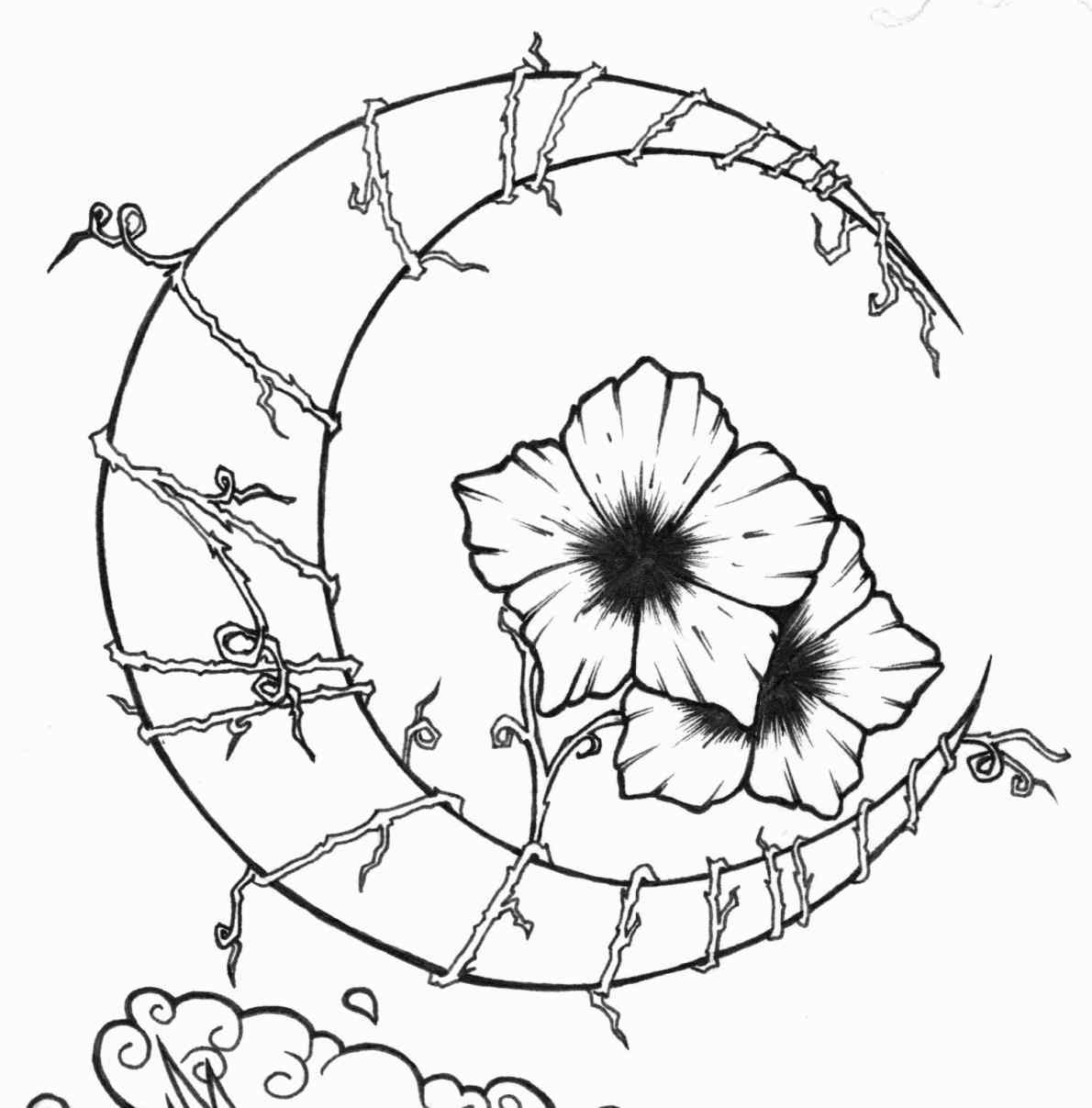 1190x1207 Flowers And Vines Drawing
