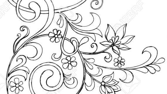 570x320 How To Draw Vines How To Draw Tanglepattern Flower Vine Youtube