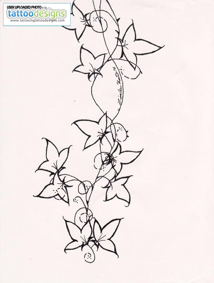 Flower Vines Drawing at GetDrawings Free for