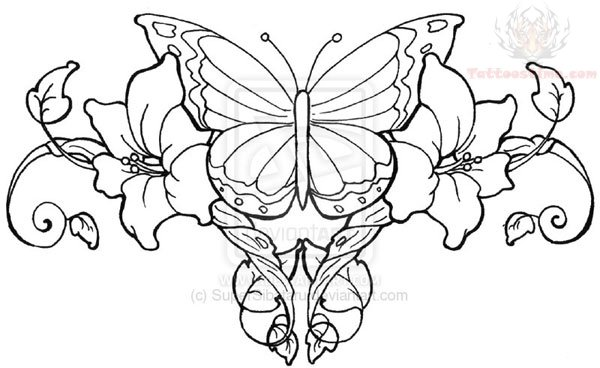 600x368 Collection Of Rose Vines Tattoo Sketch