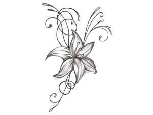 300x225 Drawing Of Flower Wallpaper Tattoos Flower