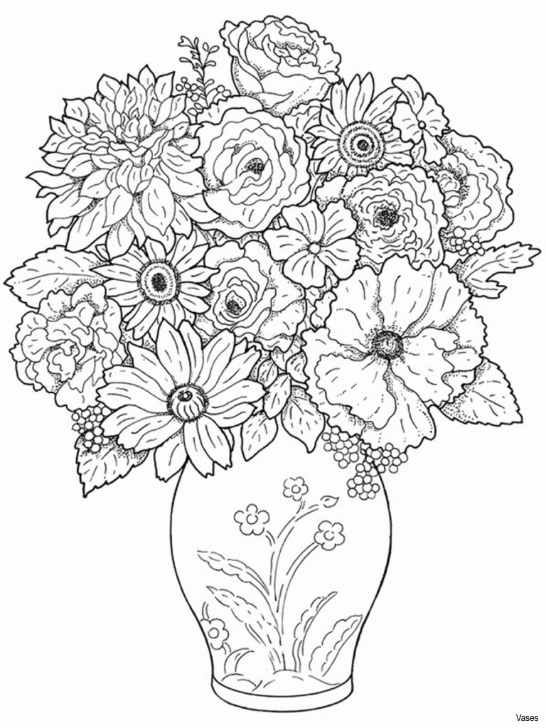 768x1024 Easy Flower Vase Drawing Clipart Black And White Clipartfesth