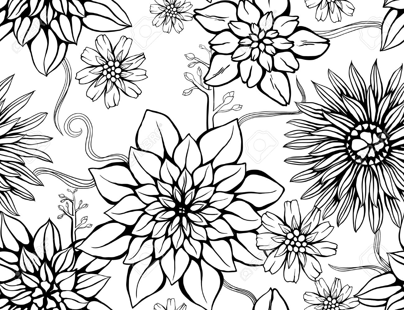 Flower Wallpaper Drawing At Getdrawings Free For Personal Use