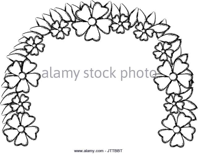 640x499 Flower Wreath Black And White Stock Photos Amp Images