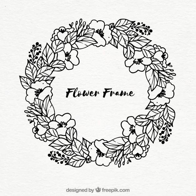 626x626 Hand Drawn Wreath Vector Free Download