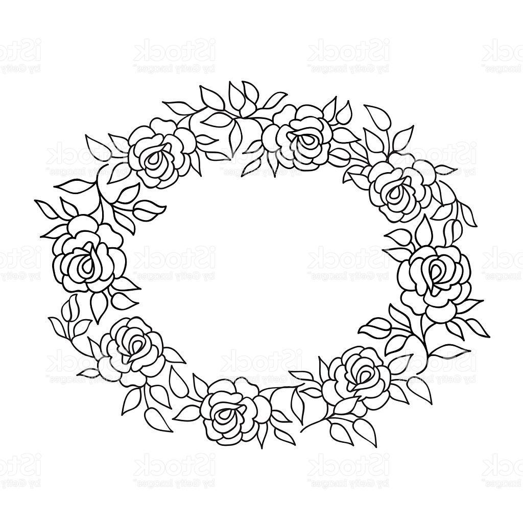 1024x1024 Best 15 Floral Frame Summer Flowers Bouquet With Rose Flourish