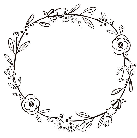 flower wreath drawing at getdrawings com free for personal use rh getdrawings com wreath clipart black and white wreath clipart vector