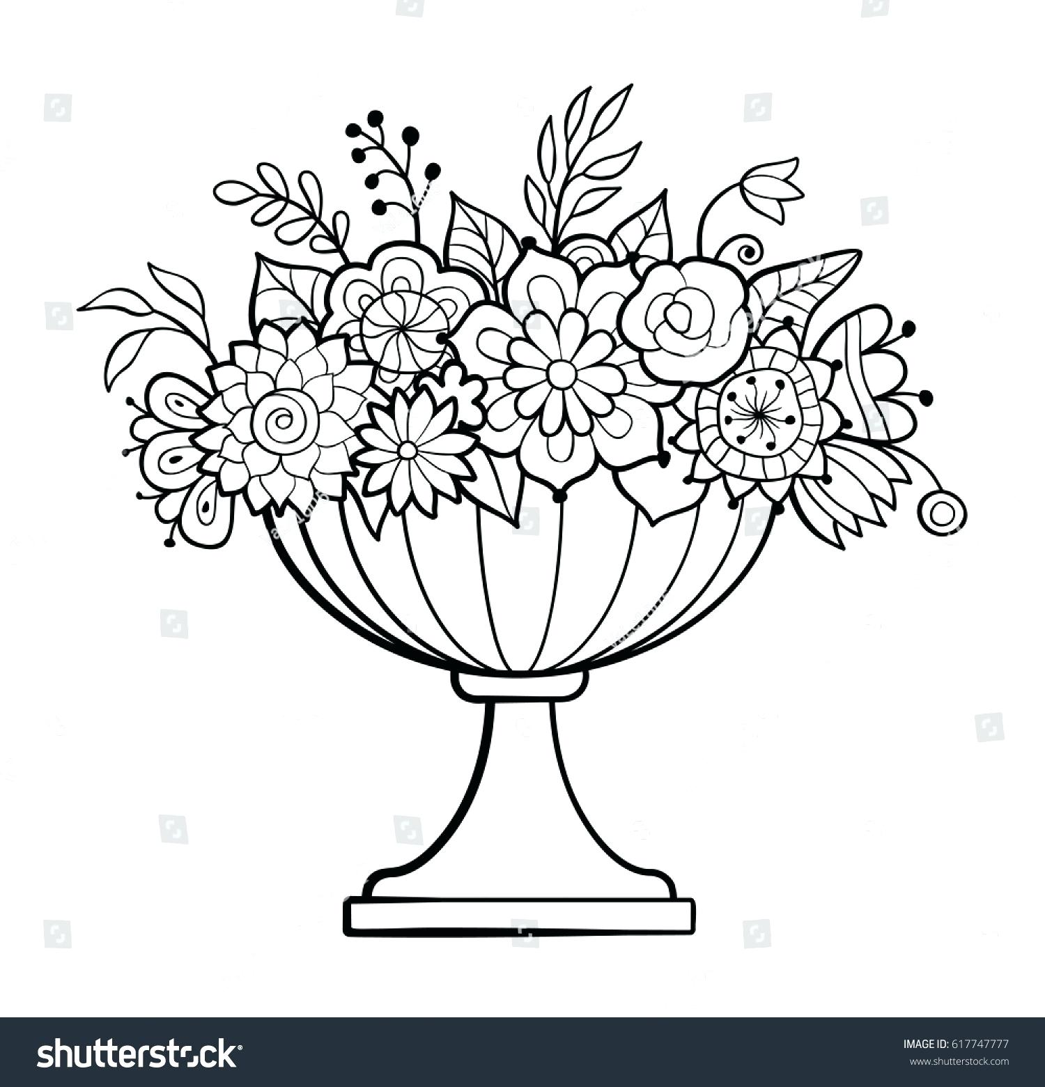 Flowerpot Drawing at GetDrawings.com   Free for personal use ...