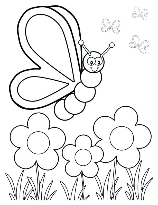 Flowers And Butterflies Drawing at GetDrawings.com | Free for ...