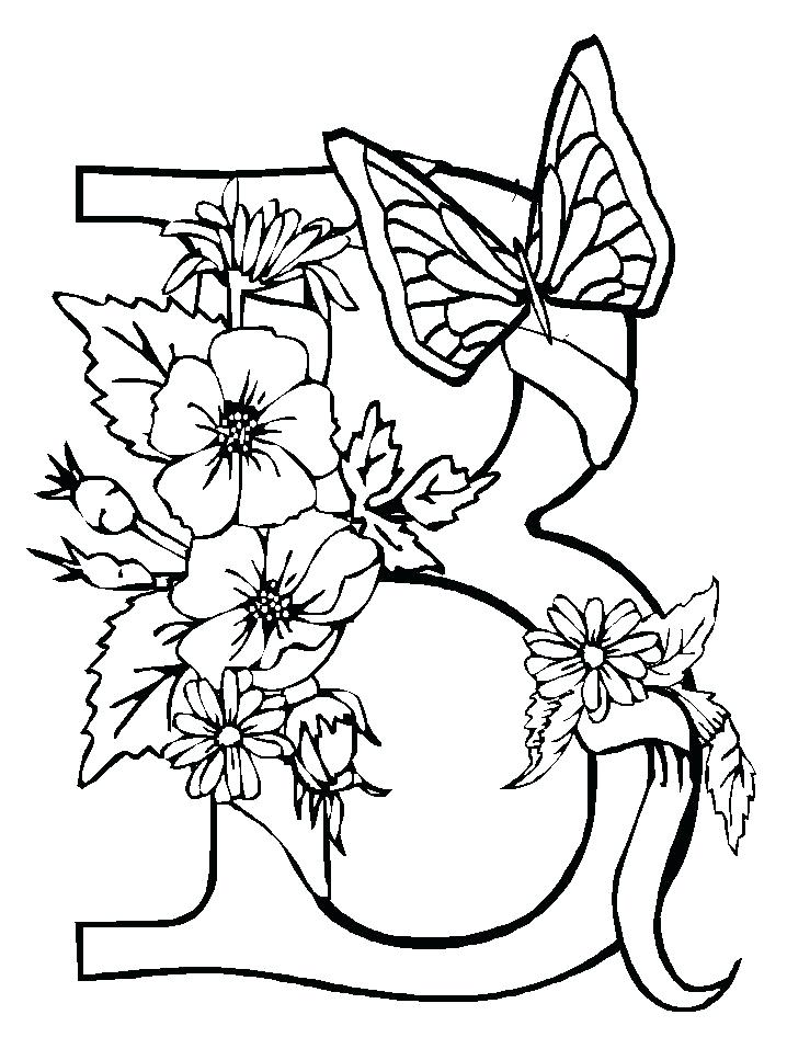 718x957 Pictures Of Flowers And Butterflies To Color Convobox.co