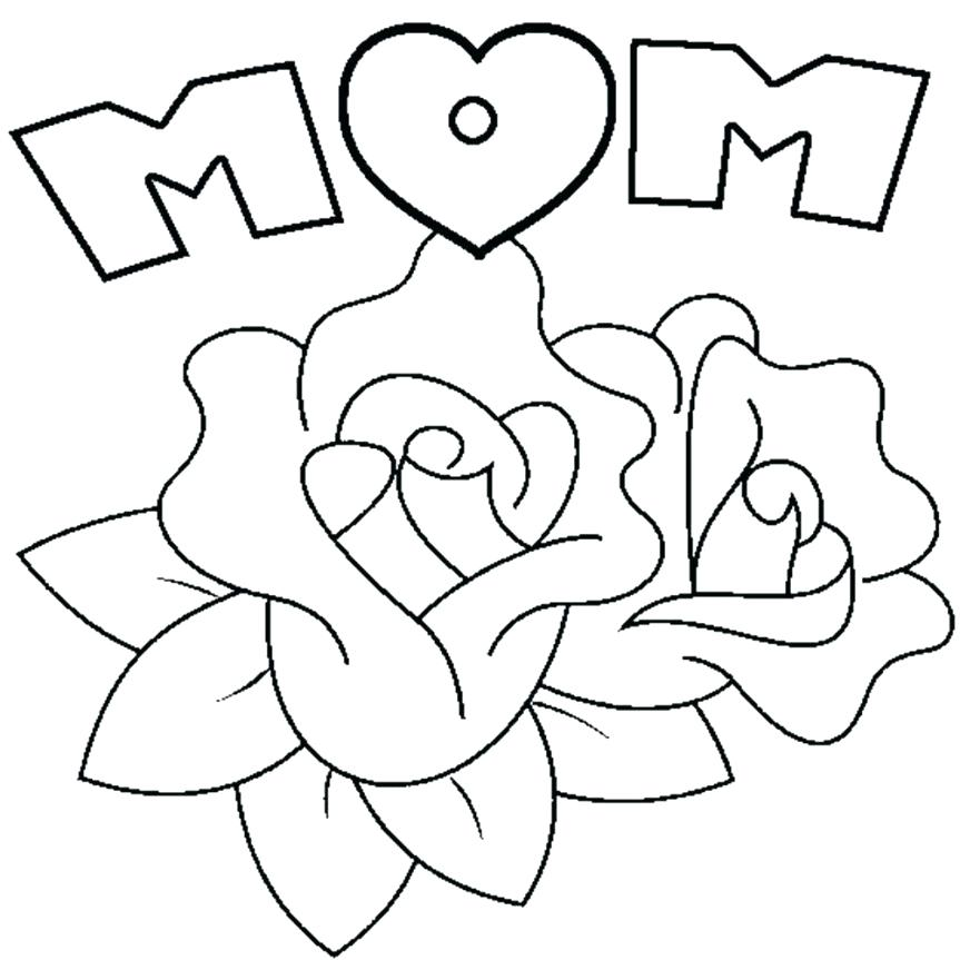 863x863 Printable Coloring Pages Of Flowers Coloring Pages Valentine S Day