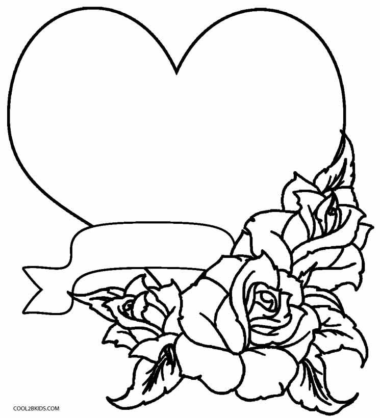 745x820 Coloring Pages Of Hearts And Flowers