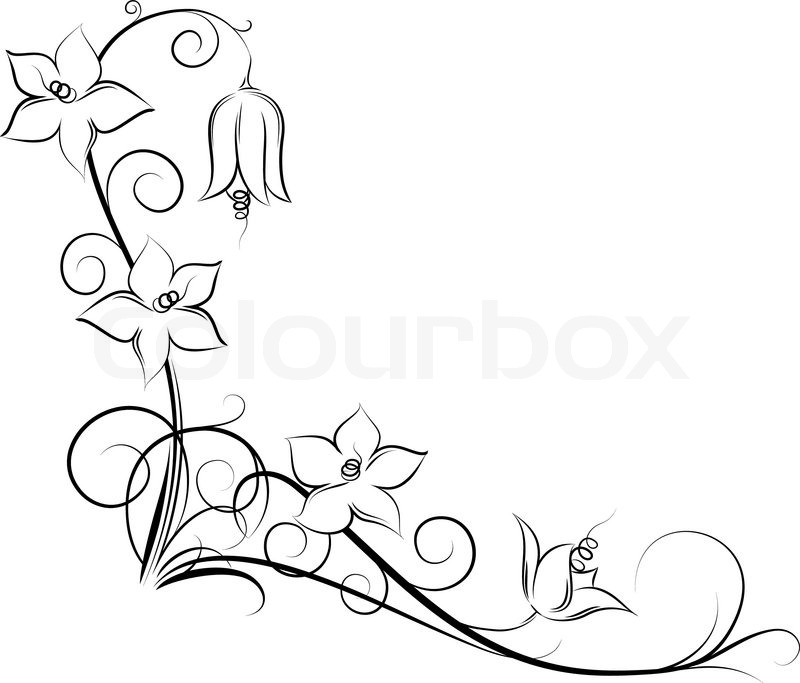 Flower Vine Line Drawing : Flowers and vines drawing at getdrawings free for