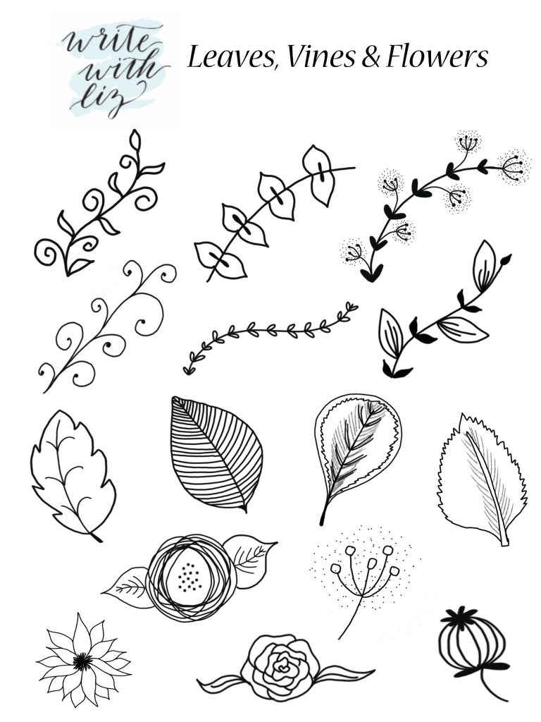 768x1024 Free Printable Hand Drawn Accents Free Printable, Leaves And Artwork