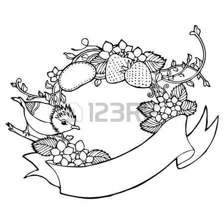 450x450 Vintage Flower Butterfly Vine Drawing Royalty Free Cliparts