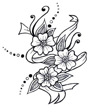 320x361 Henna Flower Art Drawing