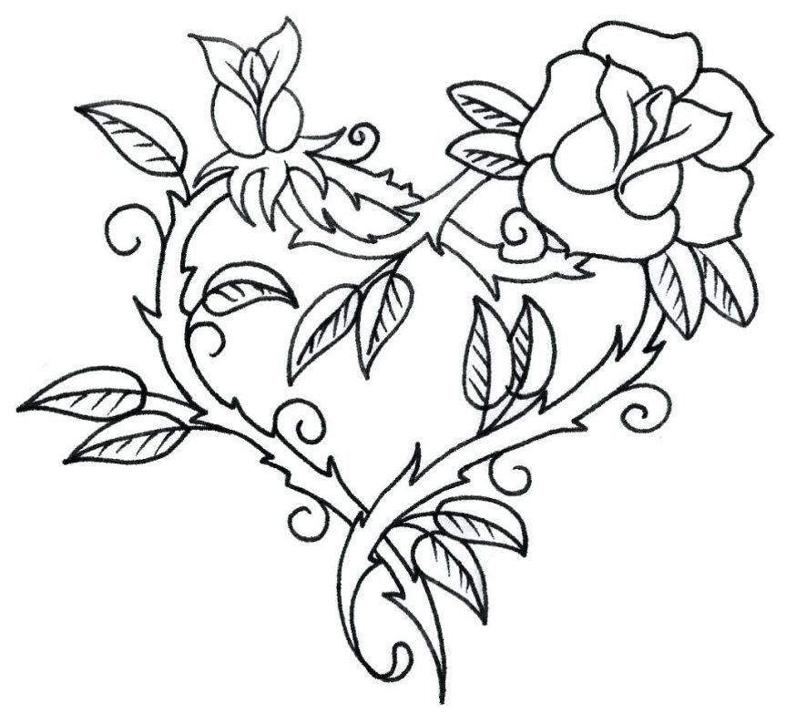 863x783 Ideas Of Draw Pretty Flowers Images About Outlines On Rose Outline