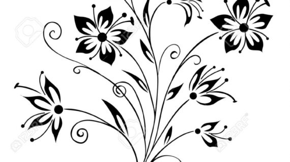 570x320 Pencil Drawings Flowers Art 5 Days Flower Art Project Clouds