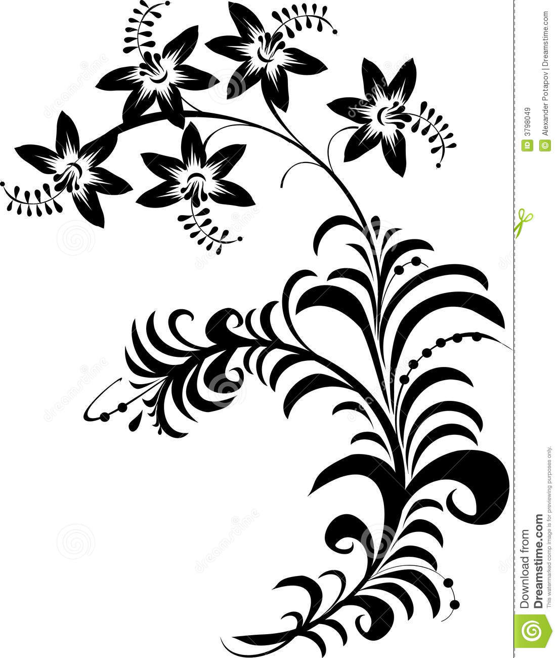 Flowers black and white drawing at getdrawings free for 1105x1300 flower art black and white clipart mightylinksfo