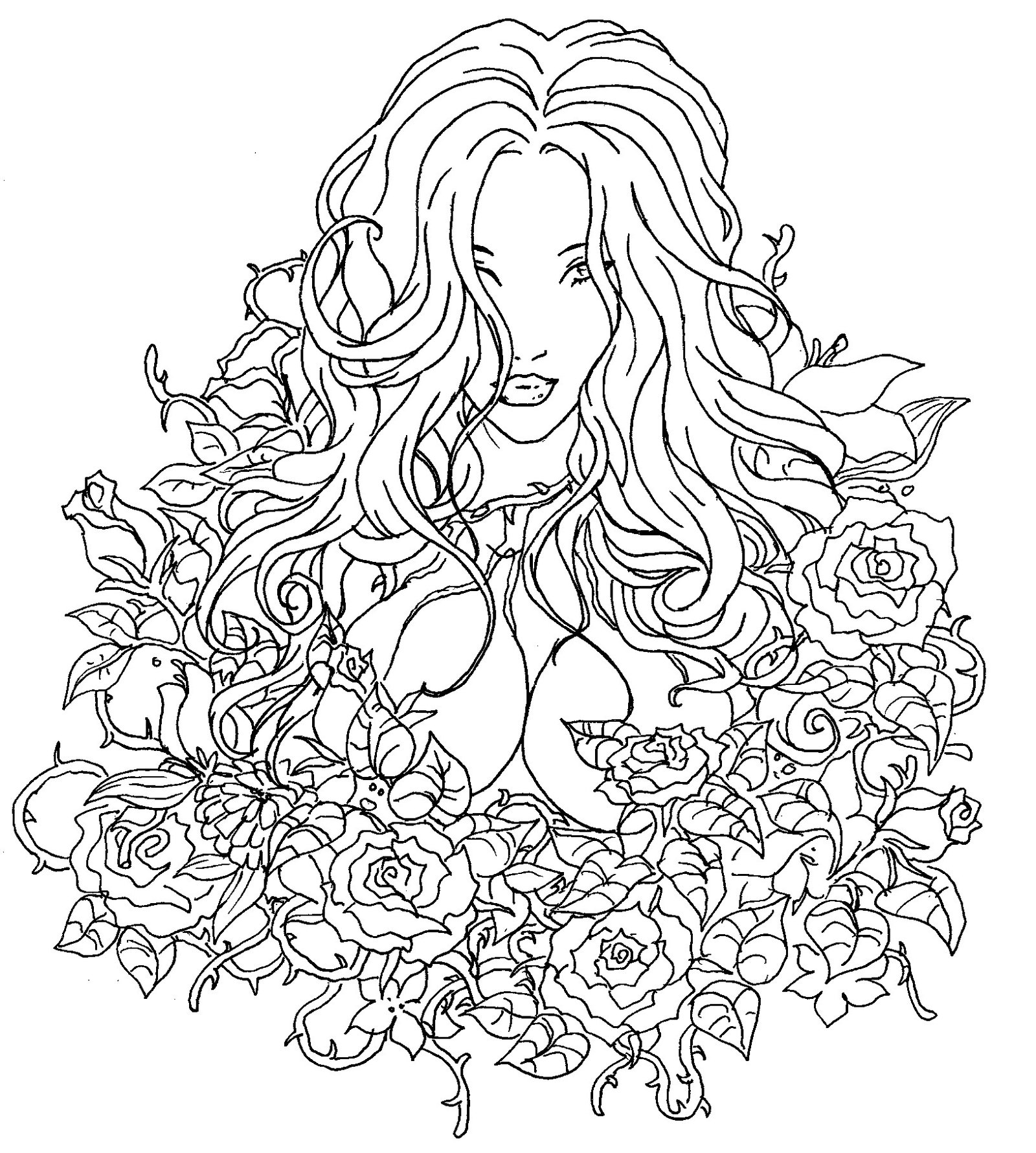 1600x1781 Garden Drawing Black And White