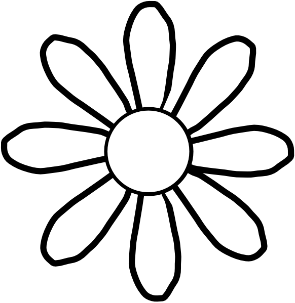 Flowers black and white drawing at getdrawings free for 582x599 photos cartoon flowers black and white mightylinksfo