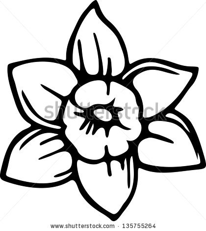 Flowers black and white drawing at getdrawings free for 420x470 simple black and white line drawing of a daffodil flower mightylinksfo Choice Image