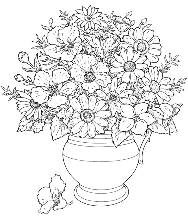 Flowers Bouquet Drawing