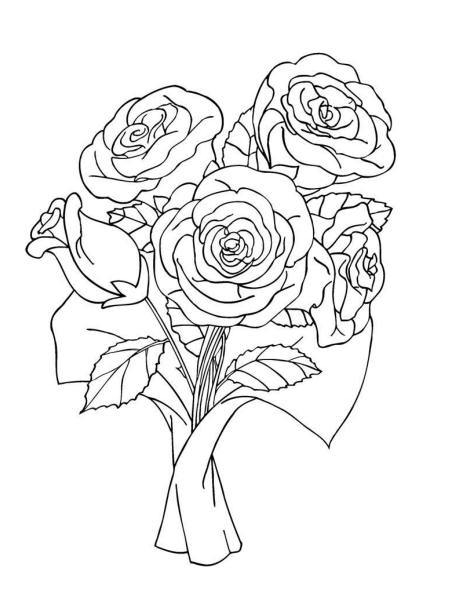 460x592 Bouquet Flowers Drawing Bouquet Flowers Drawing Bouquet