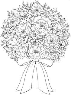 235x315 Floral Bouquets Coloring Book Coloring Pages First Edition