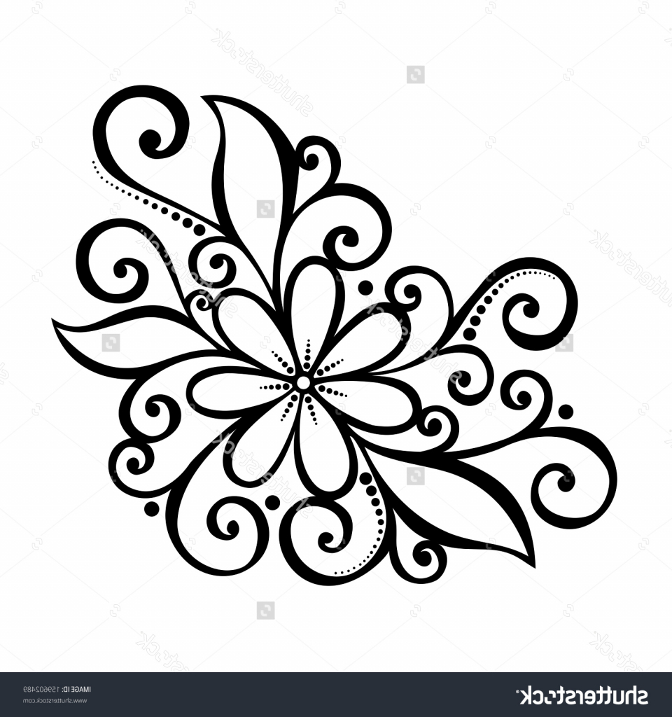 960x1024 Flowers Design Drawing