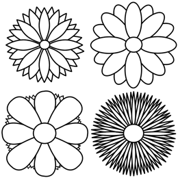 260x260 How To Draw Flowers Of Simple Designs