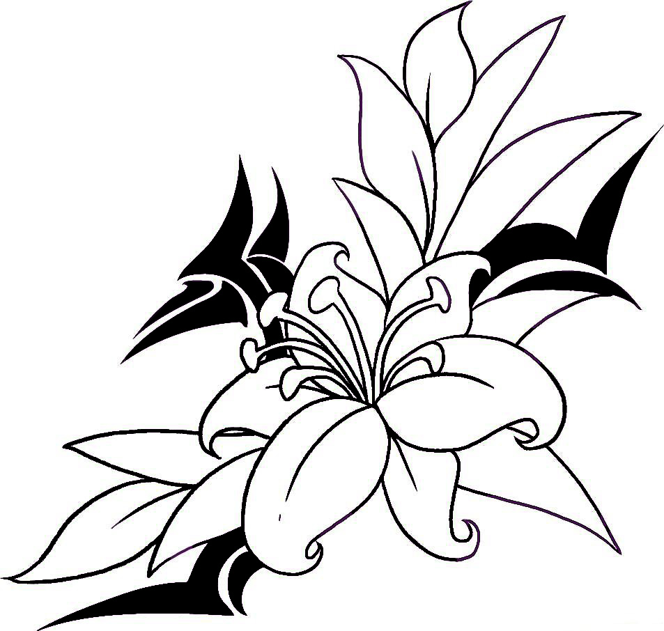 953x906 Collection Of Flowers Tattoo Drawing
