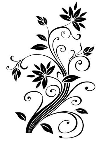 353x484 Coloring Pages Flower Drawing Designs Vine Tattoos Tattoo