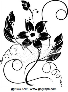 275x370 Flower Garden Drawing Black And White Decorating Clear