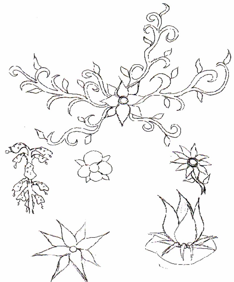 797x960 Flower Pattern For Kids