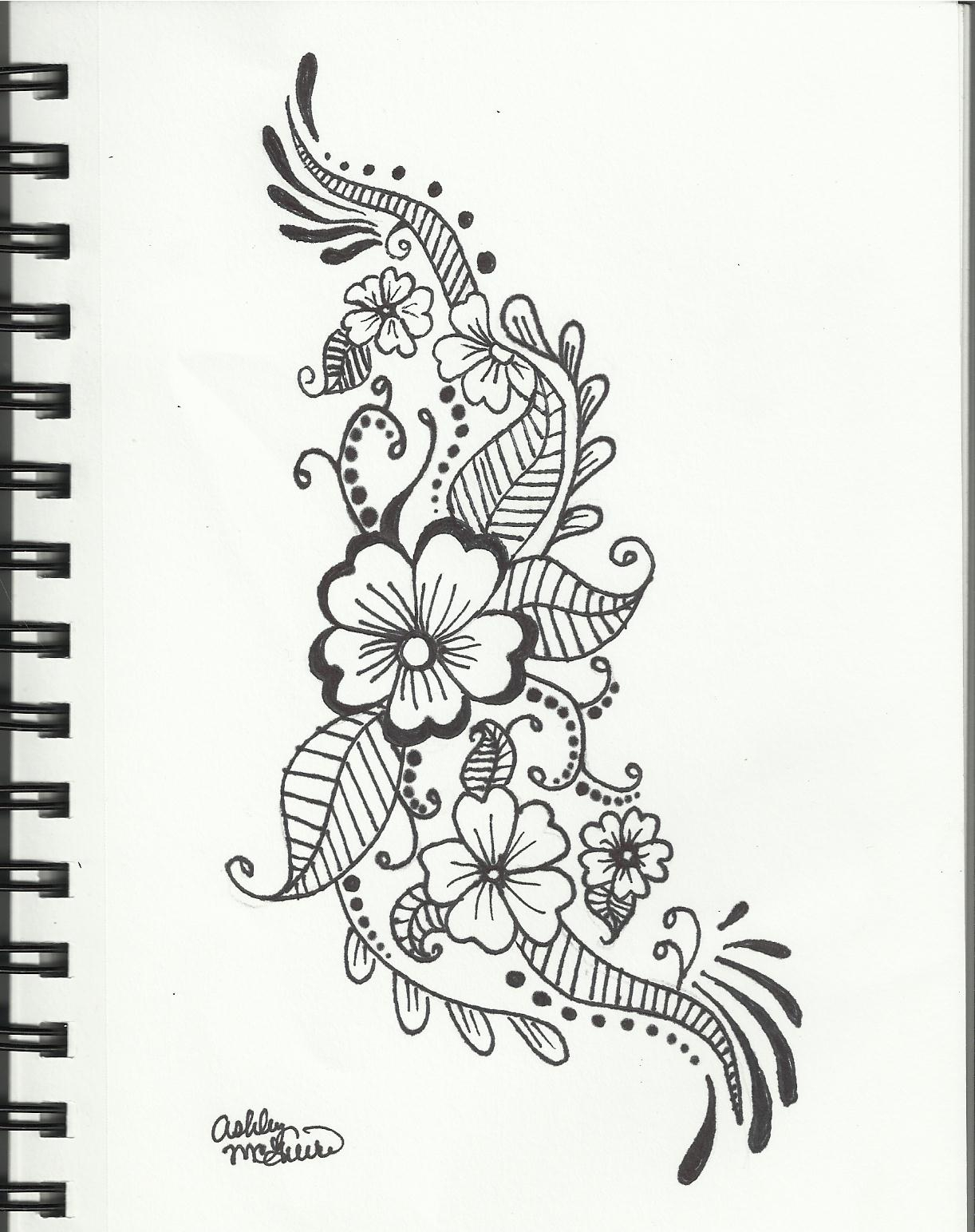1222x1543 How To Draw Flowers Design Images Of Flower Drawings Free