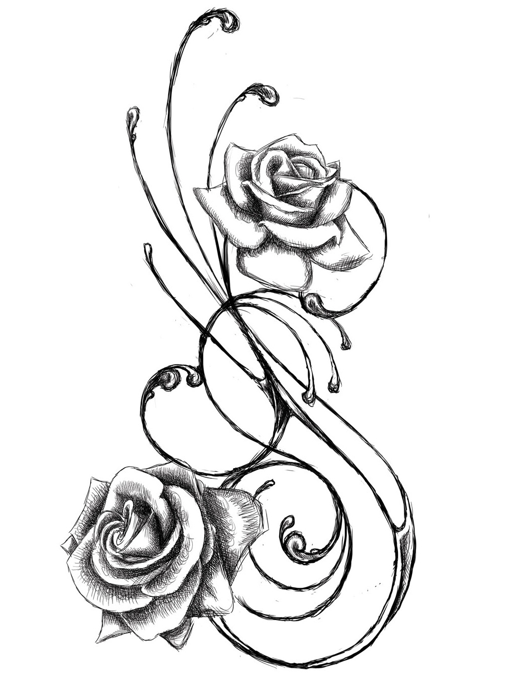 1016x1362 Collection Of Flower Tattoo Design
