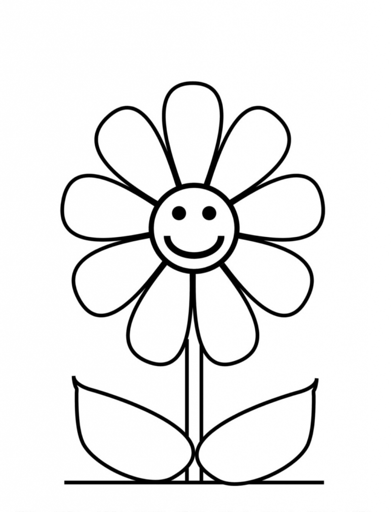 783x1024 Drawing Easy Flowers Flower Drawings Easy How To Draw Beautiful