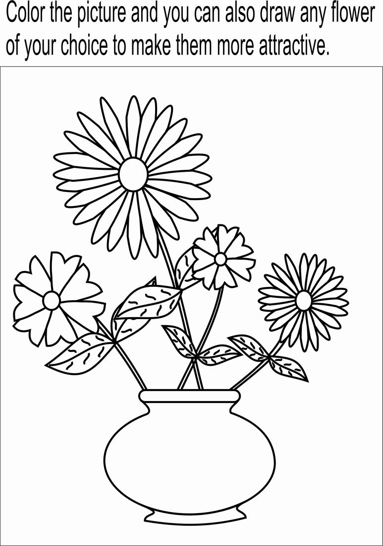 773x1100 Flowers In Pot Drawing Step By Step Flower Pot Coloring Page