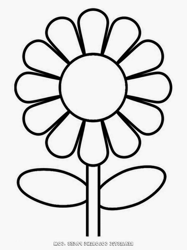 768x1024 Simple Flower Drawing For Kids Simple Flower Kindergarten Kids