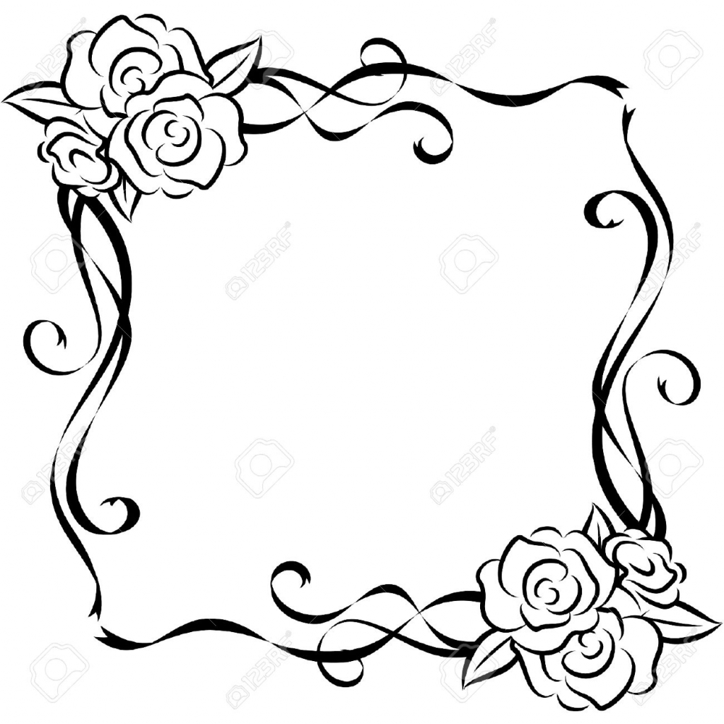 1024x1024 Beautiful Flower Drawing Simple White Background With Beautiful