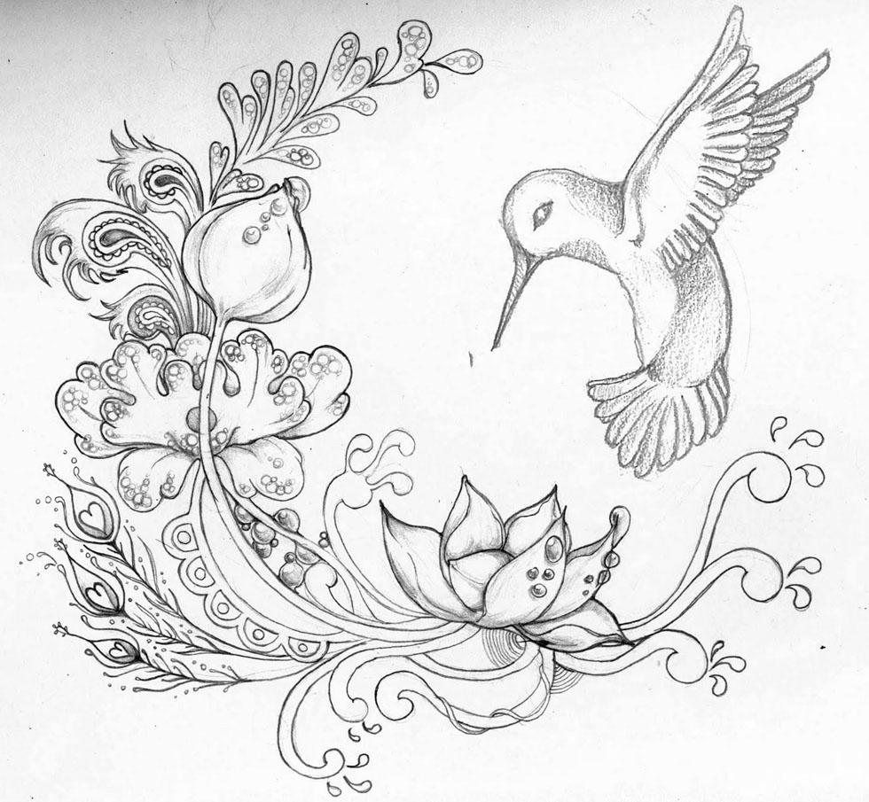 980x905 Flower Drawing Tumblr