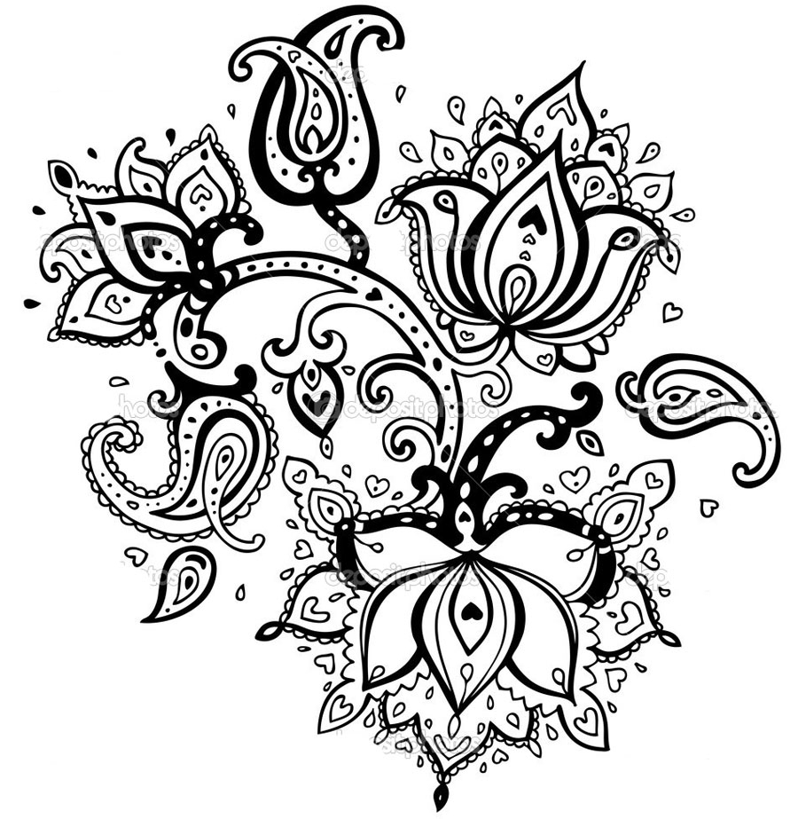 900x923 Black And White Flowers Drawings Tumblr