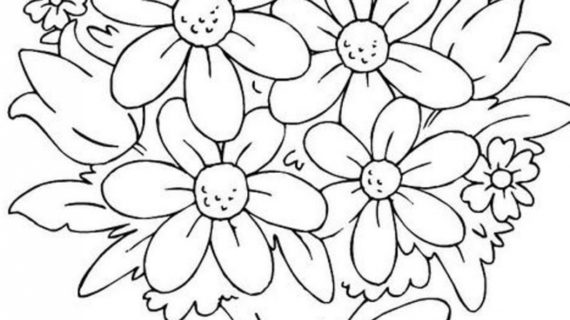 570x320 Bouquet Of Flowers Drawing Bouquet Drawing Tumblr Bouquet Idea
