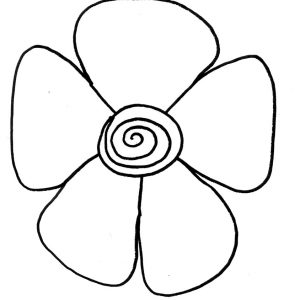 300x300 Adult Simple Flowers To Draw Simple Flowers Drawing Pictures