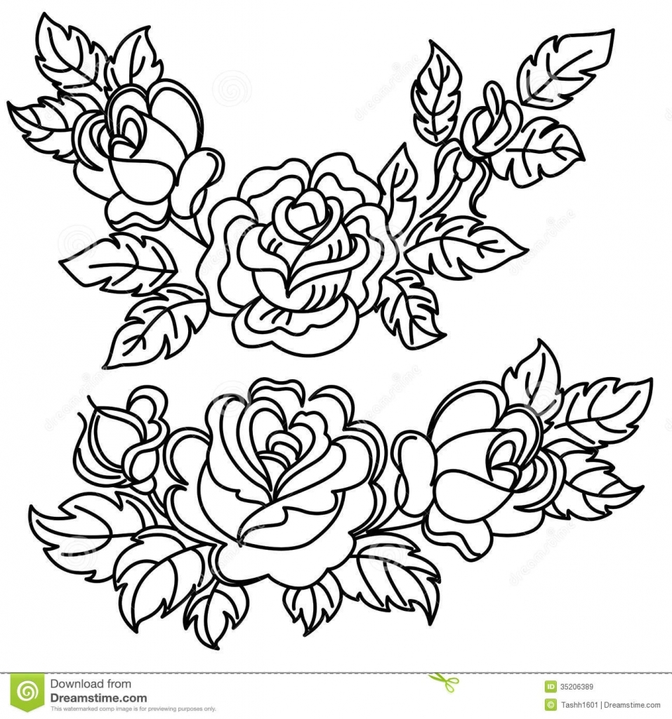 957x1024 Bouquet Of Flowers Drawing Flower Drawings In Black And White Rose